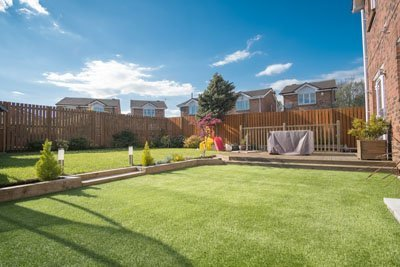 Modern Garden Designed and landscaped with newly Constructed Mat